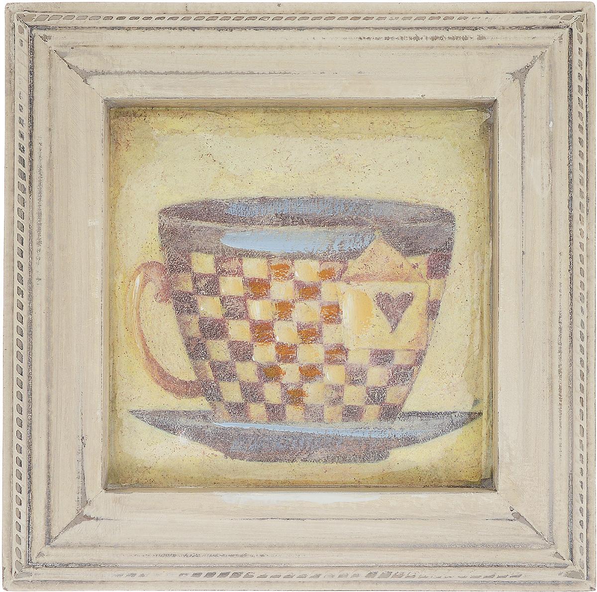 Картина-репродукция Феникс-Презент Чашка чая, 23,5 х 23,5 х 2 смRG-D31SКартина-репродукция Феникс-презент Чашка чая в рамке из МДФ выполнена печатью на бумаге с ручной подрисовкой. На оборотной стороне имеется петля для подвешивания на стену.Такая картина - вдохновляющее декоративное решение, привносящее в интерьер нотки творчества и изысканности! Благодаря оригинальному дизайну картина Чашка чая дополнит интерьер любого помещения, а также сможет стать изысканным подарком для ваших друзей и близких.