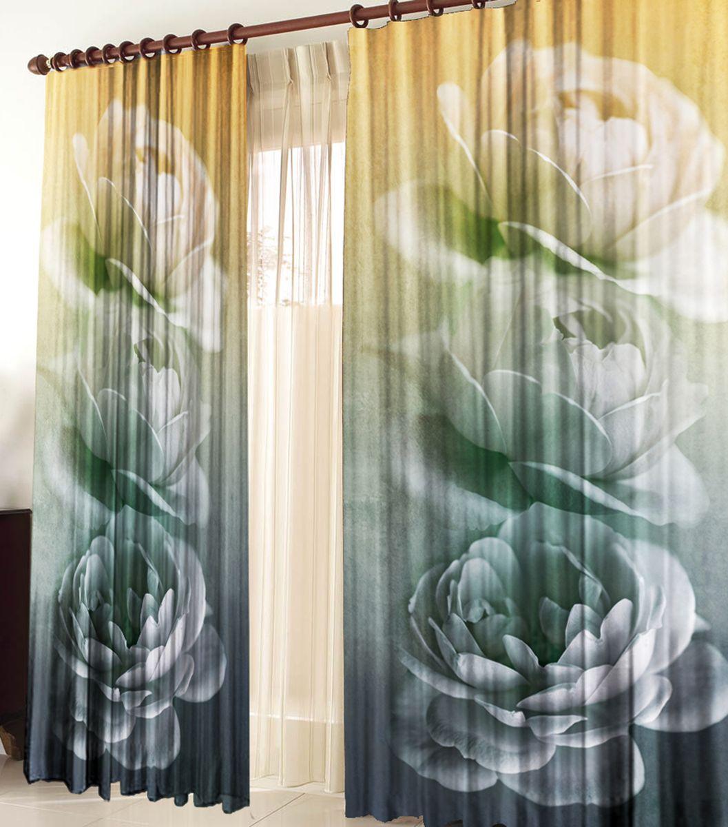 Комплект фотоштор Zlata Korunka Грезы, на ленте, высота 270 см21185Комплект фотоштор Zlata Korunka изготовлен из габардиновой ткани высочайшего качества. Фотошторы способны не пропускать самый яркий свет, их можно гладить и стирать. Рекомендации по уходу: бережная стирка при 30°С, деликатный отжим, отбеливание запрещено, гладить при температуре не более 150°С. Светопоглощение 70%. Плотность ткани: 150 г/м2. Оттенок изделия может отличаться от представленного на сайте в силу особенностей цветопередачи фототехники и вашего монитора.