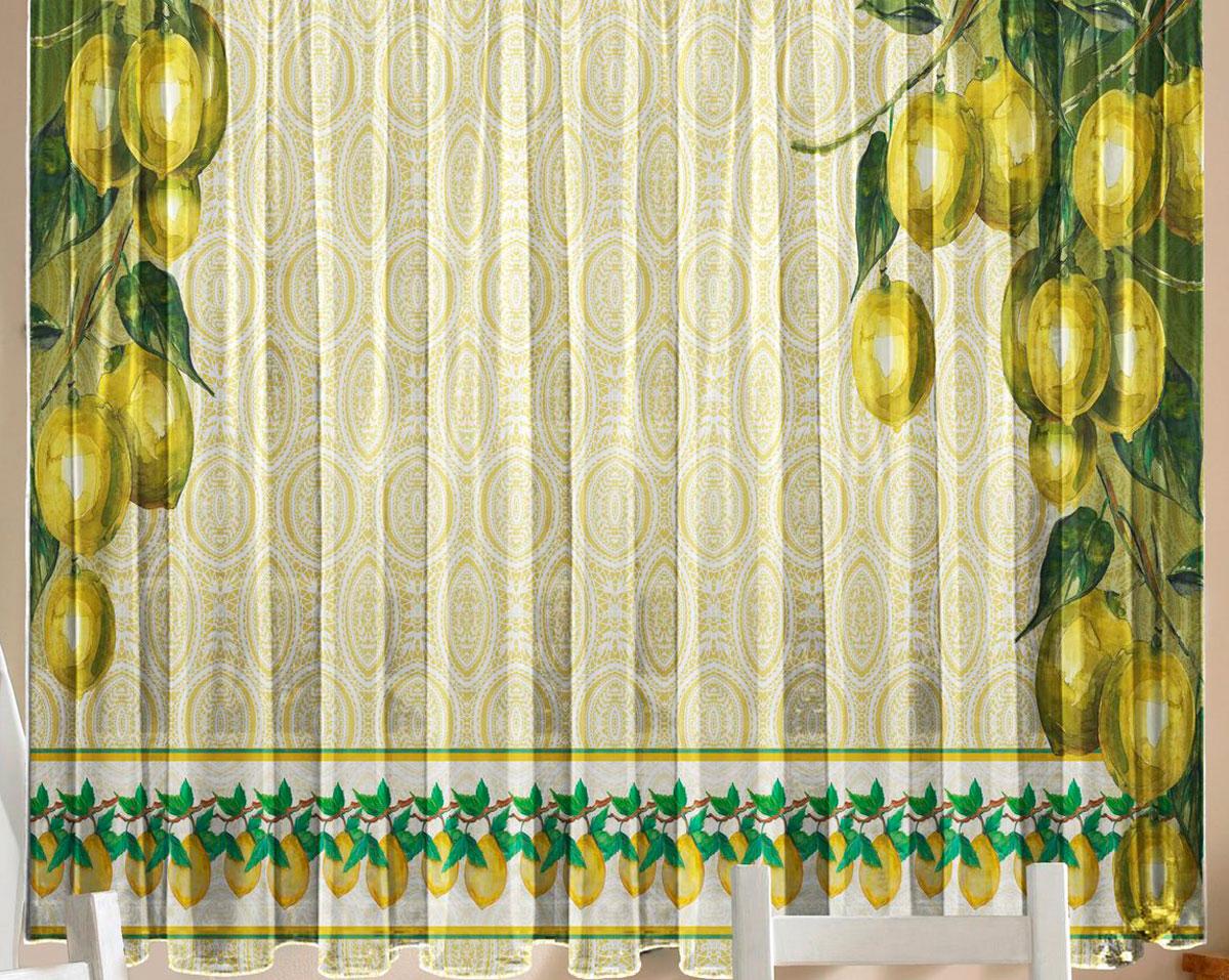 Комплект фототюлей для кухни Zlata Korunka Лимоны, на ленте, высота 160 см1004900000360Фототюль - это новинка в мире фотоштор. Для производства используется шифоновая ткань высочайшего качества. В комплект входят 2 полотна (каждое - шириной 145 см х высотой 160 см), соединенных по верху одной шторной лентой.Рекомендации по уходу: бережная стирка при 30°С, деликатный отжим, отбеливание запрещено. Оттенок изделия может отличаться от представленного на сайте в силу особенностей цветопередачи фототехники и вашего монитора.