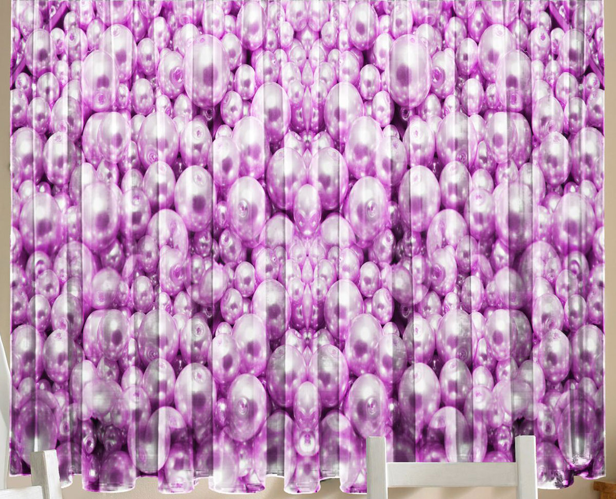 Комплект фотоштор для кухни Zlata Korunka Жемчуг розовый, на ленте, высота 160 см21157Комплект штор для кухни Zlata Korunka, выполненный из полиэстера, великолепно украсит любое окно. Комплект состоит из 2 штор. Крупный рисунок и приятная цветовая гамма привлекут к себе внимание и органично впишутся в интерьер помещения. Этот комплект будет долгое время радовать вас и вашу семью!Комплект крепится на карниз при помощи ленты, которая поможет красиво и равномерно задрапировать верх.