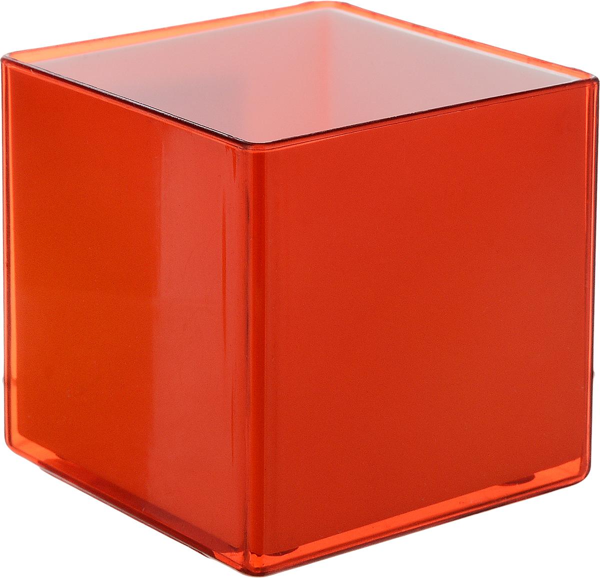 Кашпо JetPlast Мини куб, на магните, цвет: красный, 6 x 6 x 6 смZ-0307Кашпо JetPlast Мини куб предназначено для украшения любого интерьера. Благодаря магнитной ленте, входящей в комплект, вы можете разместить его не только на подоконнике, столе или иной поверхности, а также на холодильнике и любой другой металлической поверхности, дополняя привычные вещи новыми дизайнерскими решениями. Кашпо можно использовать не только под цветы, но и как подставку для ручек, карандашей и прочих канцелярских мелочей.Размеры кашпо: 6 х 6 х 6 см.