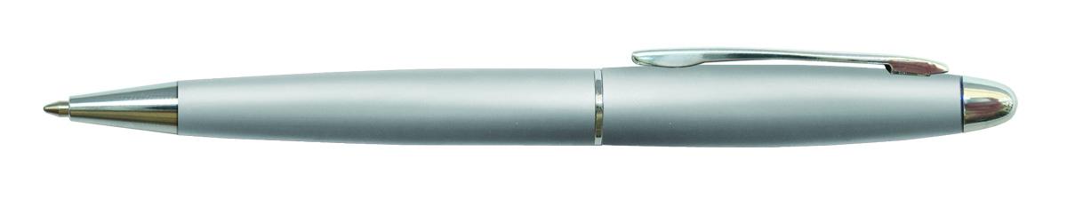 Berlingo Ручка шариковая Velvet Standard цвет корпуса серебристый730396Автоматическая шариковая ручка Berlingo Velvet Standard с поворотным механизмом. Обтекаемая форма корпуса. Цвет чернил - синий. Диаметр пишущего узла - 0,7 мм. Подходит для нанесения логотипа. Ручка упакована в индивидуальный пластиковый футляр.