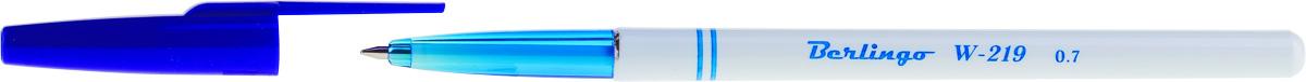 Berlingo Набор шариковых ручек W-219 цвет чернил синий 50 шт72523WDСтильная и удобная шариковая ручка Berlingo W-219 оснащена высококачественными чернилами, которые обеспечивают ровное и мягкое письмо.Корпус - пластик с прозрачным кончиком для контроля за уровнем чернил. Детали корпуса тонированы в цвет чернил. Диаметр пишущего узла - 0,7 мм.Цвет чернил - синий.