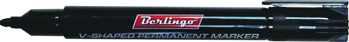 Berlingo Маркер перманентный цвет черный BMc_0460172523WDПерманентный маркер Berlingo подходит для письма на любых поверхностях. Чернила на спиртовой основе. Плотный колпачок с клипом надежно предотвращает высыхание. Цвет колпачка соответствует цвету чернил. Клиновидный пишущий узел. Ширина линии варьируется от 1 до 5 мм. Длина непрерывной линии - 500 м.