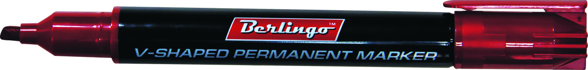 Berlingo Маркер перманентный цвет красный BMc_046033380/4WTМаркер Berlingo подходит для письма на любых поверхностях. Чернила на спиртовой основе. Плотный колпачок с клипом надежно предотвращает высыхание. Цвет колпачка соответствует цвету чернил. Маркер имеет закругленный пишущий узел и пулевидную форму наконечника. Ширина линии варьируется от 0,5 до 4 мм. Длина непрерывной линии - 5 мм.