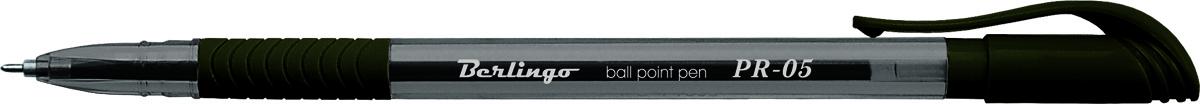 Berlingo Ручка шариковая PR-05 черная72523WDШариковая ручка Berlingo PR-05 синяя с прозрачным корпусом и пластиковым клипом.Мягкий резиновый грип препятствует скольжению пальцев и обеспечивает комфортное письмо. Диаметр пишущего узла - 0,5 мм. Чернила на масляной основе.