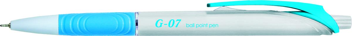 Berlingo Ручка шариковая G-07 цвет чернил синий72523WDАвтоматическая шариковая ручка Berlingo G-07 с пластиковым клипом и мягким резиновым грипом предназначена для комфортного письма.Диаметр пишущего узла - 0,7 мм. Чернила на масляной основе.