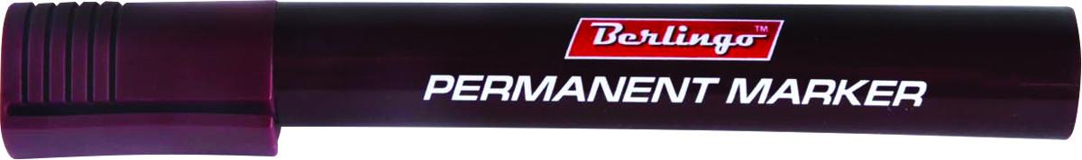 Berlingo Маркер перманентный цвет коричневый BMc_1512272523WDМаркер Berlingo подходит для письма на любых поверхностях. Чернила на спиртовой основе. Плотный колпачок с клипом надежно предотвращает высыхание. Цвет колпачка соответствует цвету чернил. Маркер имеет закругленный пишущий узел и пулевидную форму наконечника. Толщина линии - 3 мм.