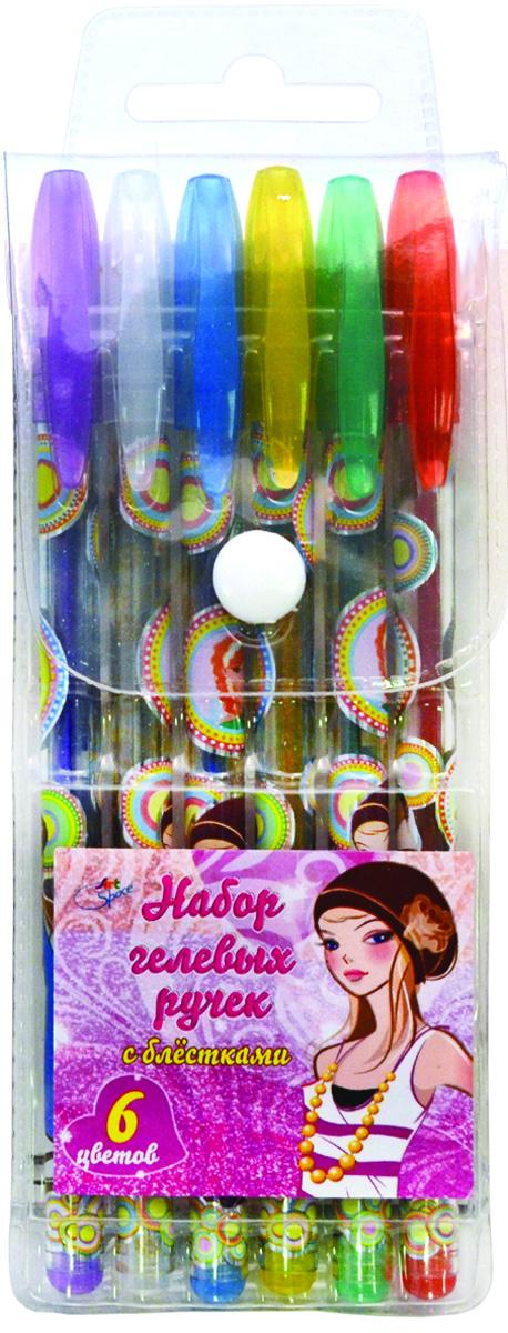 ArtSpace Набор гелевых ручек Девочки 6 цветов72523WDНабор гелевых ручек с блестками ArtSpace Девочки подойдет тем, кто предпочитает яркие и жизнерадостные цвета. Эффектные чернила непременно понравятся детям.Корпус эргономичной формы изготовлен из прозрачного пластика. Зона захвата выполнена с удобными выемками, которые предотвращают скольжение пальцев во время письма.Ручки имеют плотно защелкивающийся прозрачный колпачок. Цвет клипа соответствует цвету чернил. Диаметр пишущего узла 1,0 мм, при этом толщина линии письма 0,5 мм.