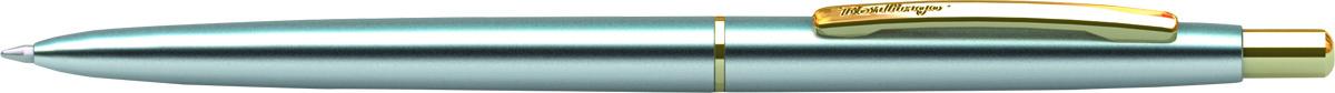 Berlingo Ручка шариковая Golden Prestige цвет корпуса серебристый золотистыйCPs_73114Автоматическая шариковая ручка Berlingo Golden Prestige с кнопочным механизмом имеет оригинальный дизайн кольца. Цвет чернил - синий. Подходит для нанесения логотипа. Ручка упакована в индивидуальный пластиковый футляр.