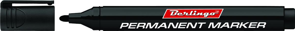 Berlingo Маркер перманентный цвет черный BMc_1520172523WDПерманентный маркер Berlingo предназначен для письма на любой поверхности. Заправлен водостойкими чернилами на спиртовой основе, которые после нанесения быстро высыхают и не стираются. Толщина линии - 3 мм.