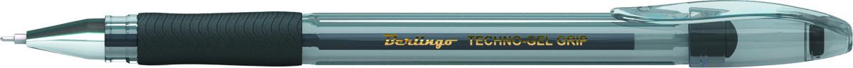 Berlingo Ручка гелевая Techno-Gel Grip чернаяPP-220В гелевой ручке Berlingo Techno-Gel Grip содержатся специальные чернила, в состав которых входит вода и масляная основа.Водостойкие чернила хорошо пишут в холодную погоду и долго не выцветают. Диаметр пишущего узла - 0,5 мм. Грип-зона со специальной резиновой накладкой предотвращает скольжение ручки в пальцах. Цвет чернил - черный.