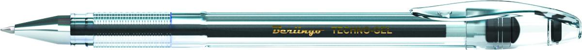 Berlingo Ручка гелевая Techno-Gel черная72523WDВ гелевой ручке Berlingo Techno-Gel содержатся специальные чернила, в состав которых входит вода и масляная основа.Водостойкие чернила хорошо пишут в холодную погоду и долго не выцветают. Диаметр пишущего узла - 0,5 мм. Цвет чернил - черный.