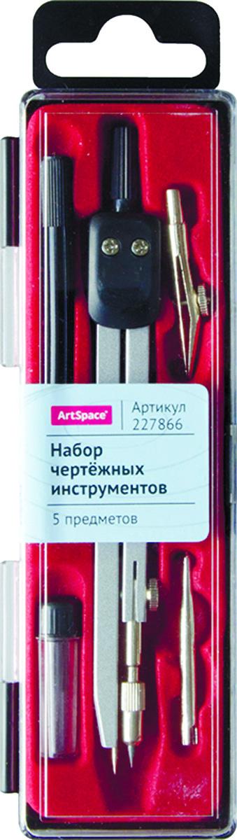 ArtSpace Готовальня 5 предметов227866Готовальня ArtSpace представляет собой набор из 5 предметов: циркуль, запасной грифель, рейсфедерная вставка, держатель рейсфедерной вставки и точечная насадка. Набор предназначен для чертежно-графических работ.
