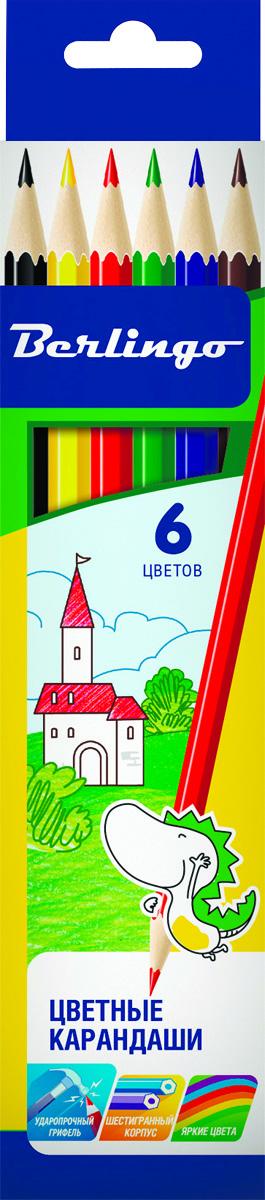 Berlingo Набор цветных карандашей Замки 6 штFS-36054Набор цветных карандашей Berlingo Замки с заточенным грифелем.Карандаши имеют яркие насыщенные цвета. Штрихи мягко ложатся на бумагу. Карандаши легко затачиваются.