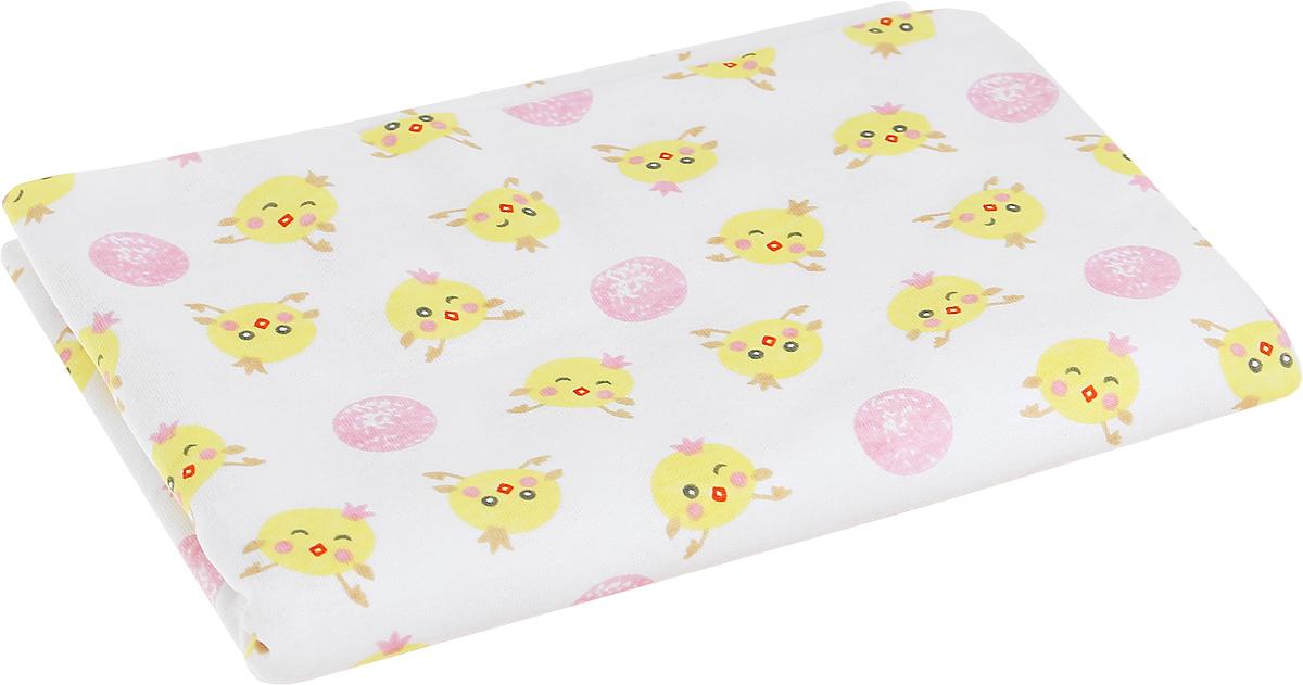 Чудесные одежки Детская пеленка Цыпленок 120 х 90 см цвет белый розовый5207Детская пеленка Чудесные одежки Цыпленок подходит для пеленания малыша с самого рождения.Она очень мягкая и нежная на ощупь. Пеленка изготовлена из 100% хлопка. Такая ткань гипоаллергенна, обладает повышенными теплоизоляционными свойствами и не теряет формы после стирки. Ее размер подходит для пеленания даже крупного малыша.Такую пеленку также можно использовать как легкое одеяло в теплую погоду, простынку, полотенце после купания.Перед применением рекомендуется стирка при температуре +40°С.
