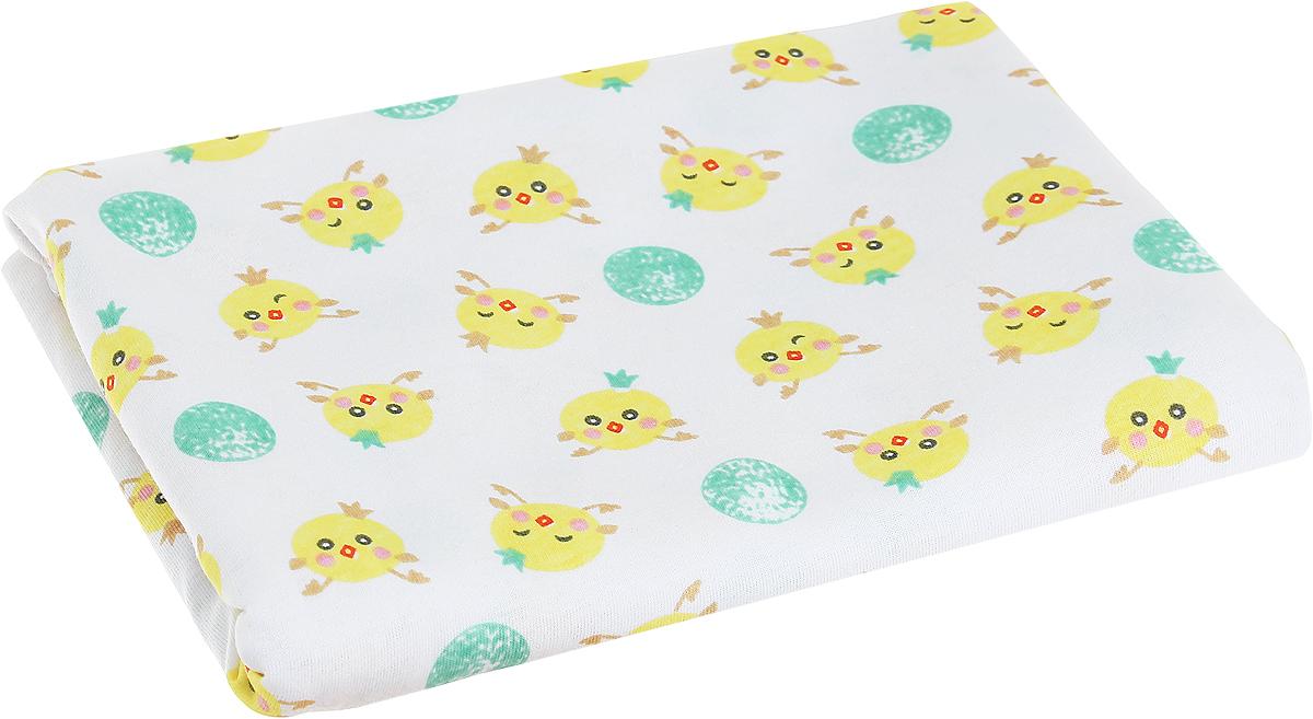 Чудесные одежки Детская пеленка Цыпленок 120 х 90 см цвет белый салатовый5237Детская пеленка Чудесные одежки Цыпленок подходит для пеленания малыша с самого рождения.Она очень мягкая и нежная на ощупь. Пеленка изготовлена из 100% хлопка. Такая ткань гипоаллергенна, обладает повышенными теплоизоляционными свойствами и не теряет формы после стирки. Ее размер подходит для пеленания даже крупного малыша.Такую пеленку также можно использовать как легкое одеяло в теплую погоду, простынку, полотенце после купания.Перед применением рекомендуется стирка при температуре +40°С.