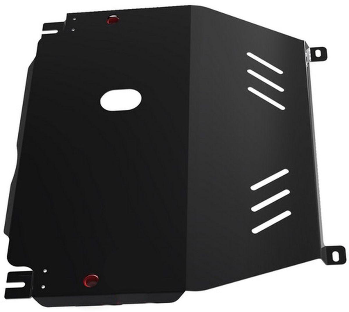 Защита картера и КПП Автоброня, для Chevrolet Aveo. 1.01015.1CLP446Технологически совершенный продукт за невысокую стоимость.Защита разработана с учетом особенностей днища автомобиля, что позволяет сохранить дорожный просвет с минимальным изменением.Защита устанавливается в штатные места кузова автомобиля. Глубокий штамп обеспечивает до двух раз больше жесткости в сравнении с обычной защитой той же толщины. Проштампованные ребра жесткости препятствуют деформации защиты при ударах.Тепловой зазор и вентиляционные отверстия обеспечивают сохранение температурного режима двигателя в норме. Скрытый крепеж предотвращает срыв крепежных элементов при наезде на препятствие.Шумопоглощающие резиновые элементы обеспечивают комфортную езду без вибраций и скрежета металла, а съемные лючки для слива масла и замены фильтра - экономию средств и время.Конструкция изделия не влияет на пассивную безопасность автомобиля (при ударе защита не воздействует на деформационные зоны кузова). Со штатным крепежом. В комплекте инструкция по установке.Толщина стали: 2 мм.