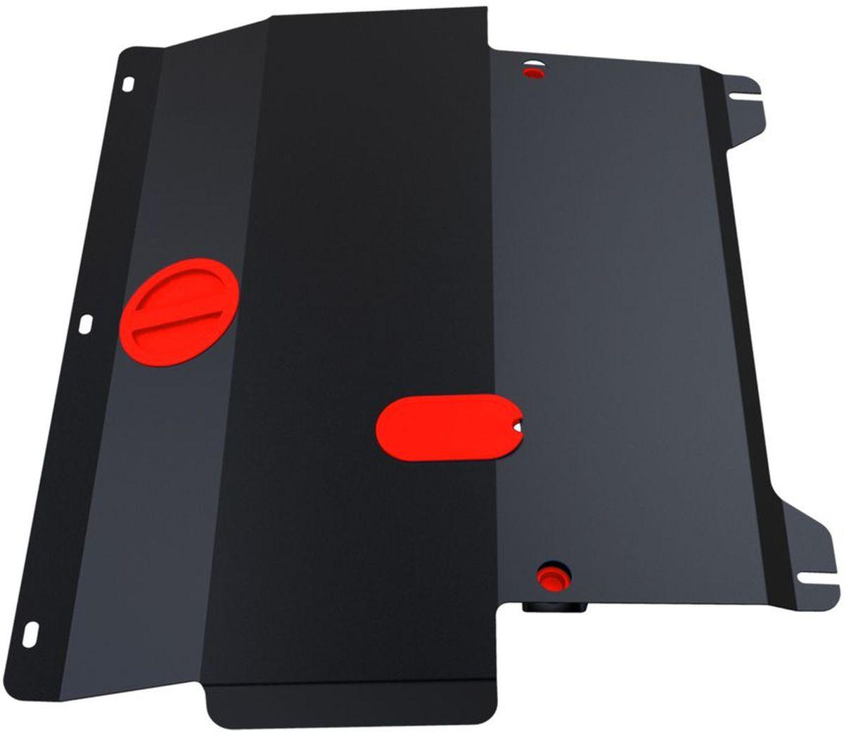 Защита картера и КПП Автоброня, для Ford Fiesta. 111.01805.298298123_черныйТехнологически совершенный продукт за невысокую стоимость.Защита разработана с учетом особенностей днища автомобиля, что позволяет сохранить дорожный просвет с минимальным изменением.Защита устанавливается в штатные места кузова автомобиля. Глубокий штамп обеспечивает до двух раз больше жесткости в сравнении с обычной защитой той же толщины. Проштампованные ребра жесткости препятствуют деформации защиты при ударах.Тепловой зазор и вентиляционные отверстия обеспечивают сохранение температурного режима двигателя в норме. Скрытый крепеж предотвращает срыв крепежных элементов при наезде на препятствие.Шумопоглощающие резиновые элементы обеспечивают комфортную езду без вибраций и скрежета металла, а съемные лючки для слива масла и замены фильтра - экономию средств и время.Конструкция изделия не влияет на пассивную безопасность автомобиля (при ударе защита не воздействует на деформационные зоны кузова). Со штатным крепежом. В комплекте инструкция по установке.Толщина стали: 2 мм.