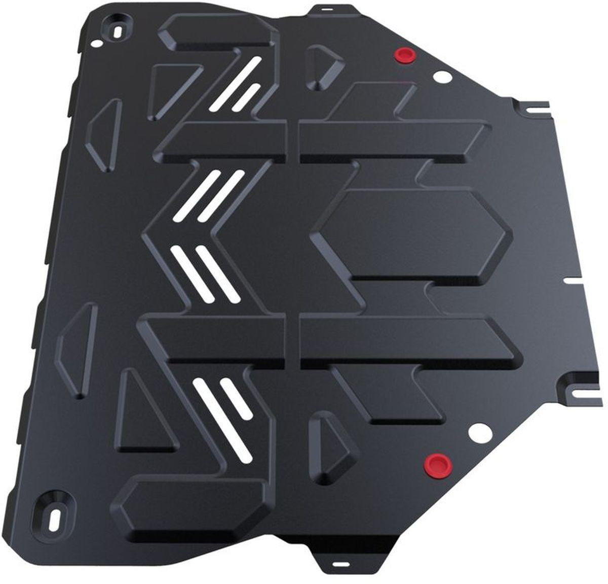 Защита картера и КПП Автоброня, для Ford Kuga. 111.01838.11004900000360Технологически совершенный продукт за невысокую стоимость.Защита разработана с учетом особенностей днища автомобиля, что позволяет сохранить дорожный просвет с минимальным изменением.Защита устанавливается в штатные места кузова автомобиля. Глубокий штамп обеспечивает до двух раз больше жесткости в сравнении с обычной защитой той же толщины. Проштампованные ребра жесткости препятствуют деформации защиты при ударах.Тепловой зазор и вентиляционные отверстия обеспечивают сохранение температурного режима двигателя в норме. Скрытый крепеж предотвращает срыв крепежных элементов при наезде на препятствие.Шумопоглощающие резиновые элементы обеспечивают комфортную езду без вибраций и скрежета металла, а съемные лючки для слива масла и замены фильтра - экономию средств и время.Конструкция изделия не влияет на пассивную безопасность автомобиля (при ударе защита не воздействует на деформационные зоны кузова). Со штатным крепежом. В комплекте инструкция по установке.Толщина стали: 2 мм.