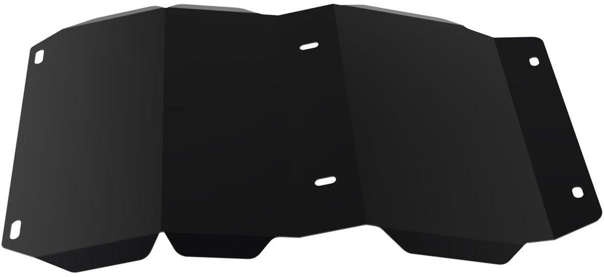 Защита картера и КПП Автоброня, для Great Wall Hover H3/Hover H5. 111.02007.11004900000360Технологически совершенный продукт за невысокую стоимость.Защита разработана с учетом особенностей днища автомобиля, что позволяет сохранить дорожный просвет с минимальным изменением.Защита устанавливается в штатные места кузова автомобиля. Глубокий штамп обеспечивает до двух раз больше жесткости в сравнении с обычной защитой той же толщины. Проштампованные ребра жесткости препятствуют деформации защиты при ударах.Тепловой зазор и вентиляционные отверстия обеспечивают сохранение температурного режима двигателя в норме. Скрытый крепеж предотвращает срыв крепежных элементов при наезде на препятствие.Шумопоглощающие резиновые элементы обеспечивают комфортную езду без вибраций и скрежета металла, а съемные лючки для слива масла и замены фильтра - экономию средств и время.Конструкция изделия не влияет на пассивную безопасность автомобиля (при ударе защита не воздействует на деформационные зоны кузова). Со штатным крепежом. В комплекте инструкция по установке.Толщина стали: 2 мм.