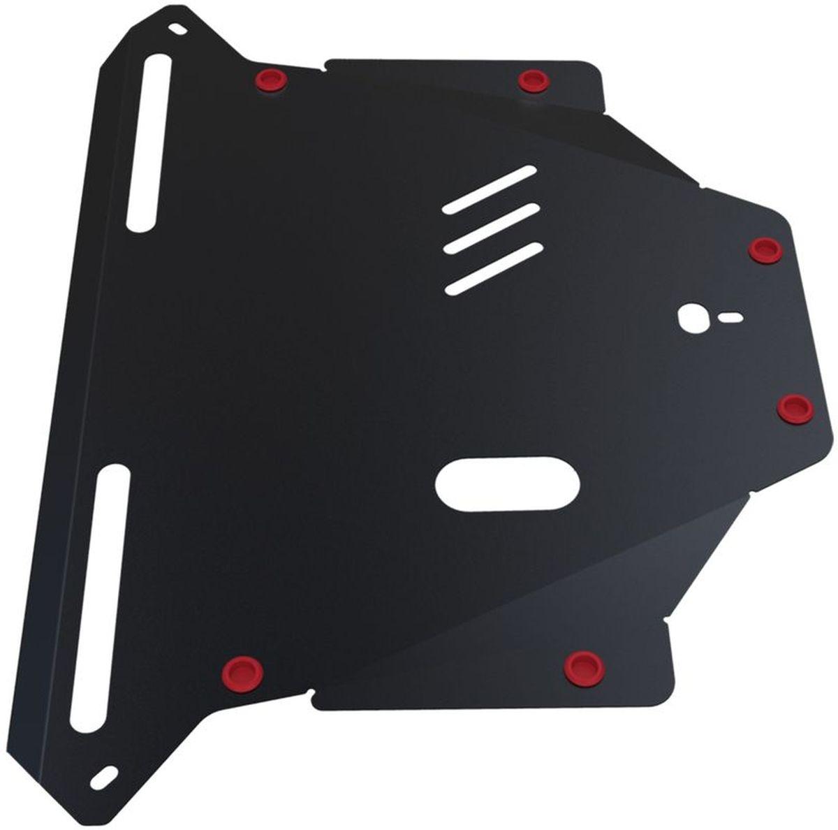 Защита картера и КПП Автоброня, для Honda CR-V II. 111.02110.11004900000360Технологически совершенный продукт за невысокую стоимость.Защита разработана с учетом особенностей днища автомобиля, что позволяет сохранить дорожный просвет с минимальным изменением.Защита устанавливается в штатные места кузова автомобиля. Глубокий штамп обеспечивает до двух раз больше жесткости в сравнении с обычной защитой той же толщины. Проштампованные ребра жесткости препятствуют деформации защиты при ударах.Тепловой зазор и вентиляционные отверстия обеспечивают сохранение температурного режима двигателя в норме. Скрытый крепеж предотвращает срыв крепежных элементов при наезде на препятствие.Шумопоглощающие резиновые элементы обеспечивают комфортную езду без вибраций и скрежета металла, а съемные лючки для слива масла и замены фильтра - экономию средств и время.Конструкция изделия не влияет на пассивную безопасность автомобиля (при ударе защита не воздействует на деформационные зоны кузова). Со штатным крепежом. В комплекте инструкция по установке.Толщина стали: 2 мм.