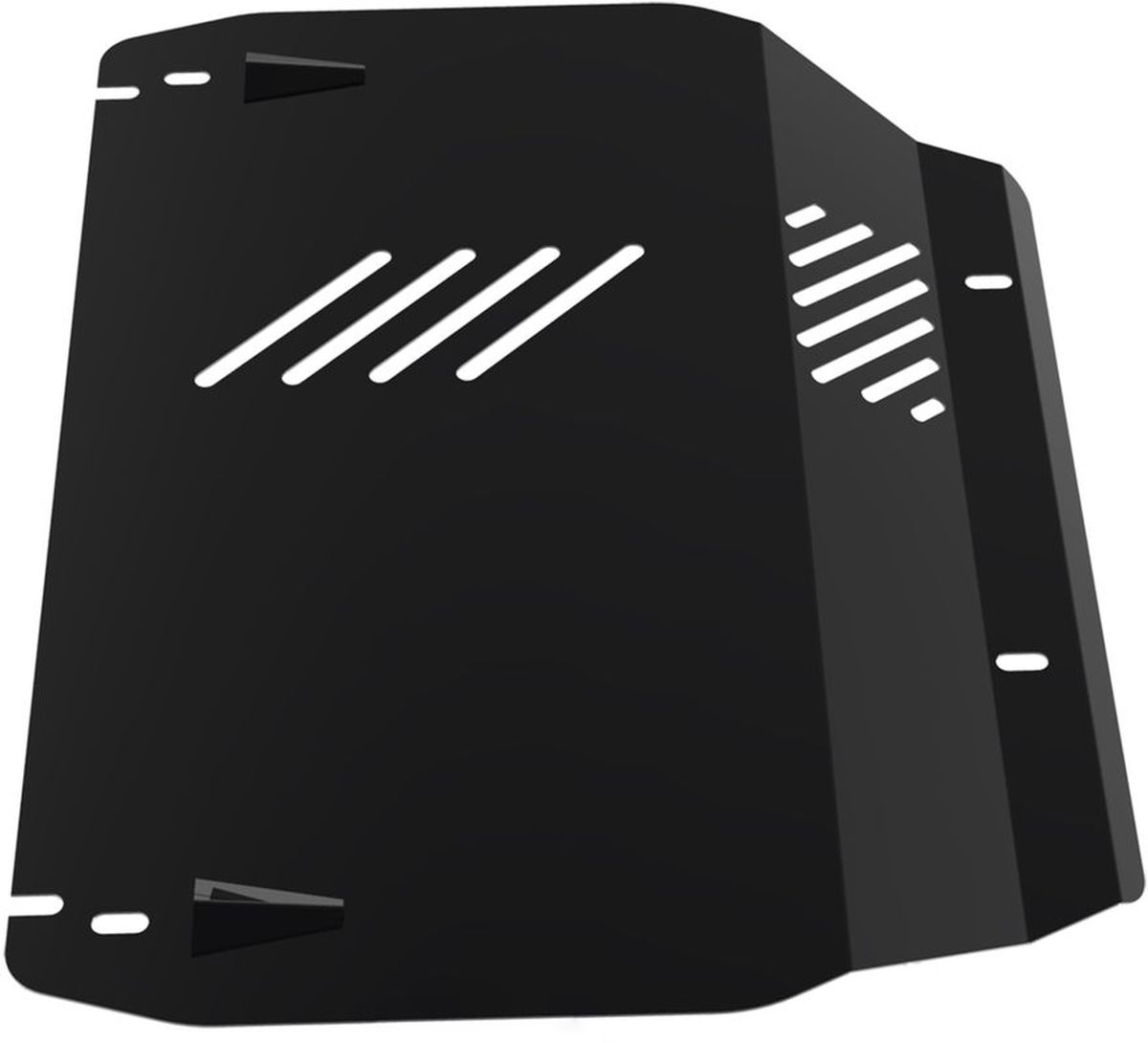 Защита картера и КПП Автоброня, для Hyundai Tucson/Kia Sportage. 111.02312.1RC-100BWCТехнологически совершенный продукт за невысокую стоимость.Защита разработана с учетом особенностей днища автомобиля, что позволяет сохранить дорожный просвет с минимальным изменением.Защита устанавливается в штатные места кузова автомобиля. Глубокий штамп обеспечивает до двух раз больше жесткости в сравнении с обычной защитой той же толщины. Проштампованные ребра жесткости препятствуют деформации защиты при ударах.Тепловой зазор и вентиляционные отверстия обеспечивают сохранение температурного режима двигателя в норме. Скрытый крепеж предотвращает срыв крепежных элементов при наезде на препятствие.Шумопоглощающие резиновые элементы обеспечивают комфортную езду без вибраций и скрежета металла, а съемные лючки для слива масла и замены фильтра - экономию средств и время.Конструкция изделия не влияет на пассивную безопасность автомобиля (при ударе защита не воздействует на деформационные зоны кузова). Со штатным крепежом. В комплекте инструкция по установке.Толщина стали: 2 мм.