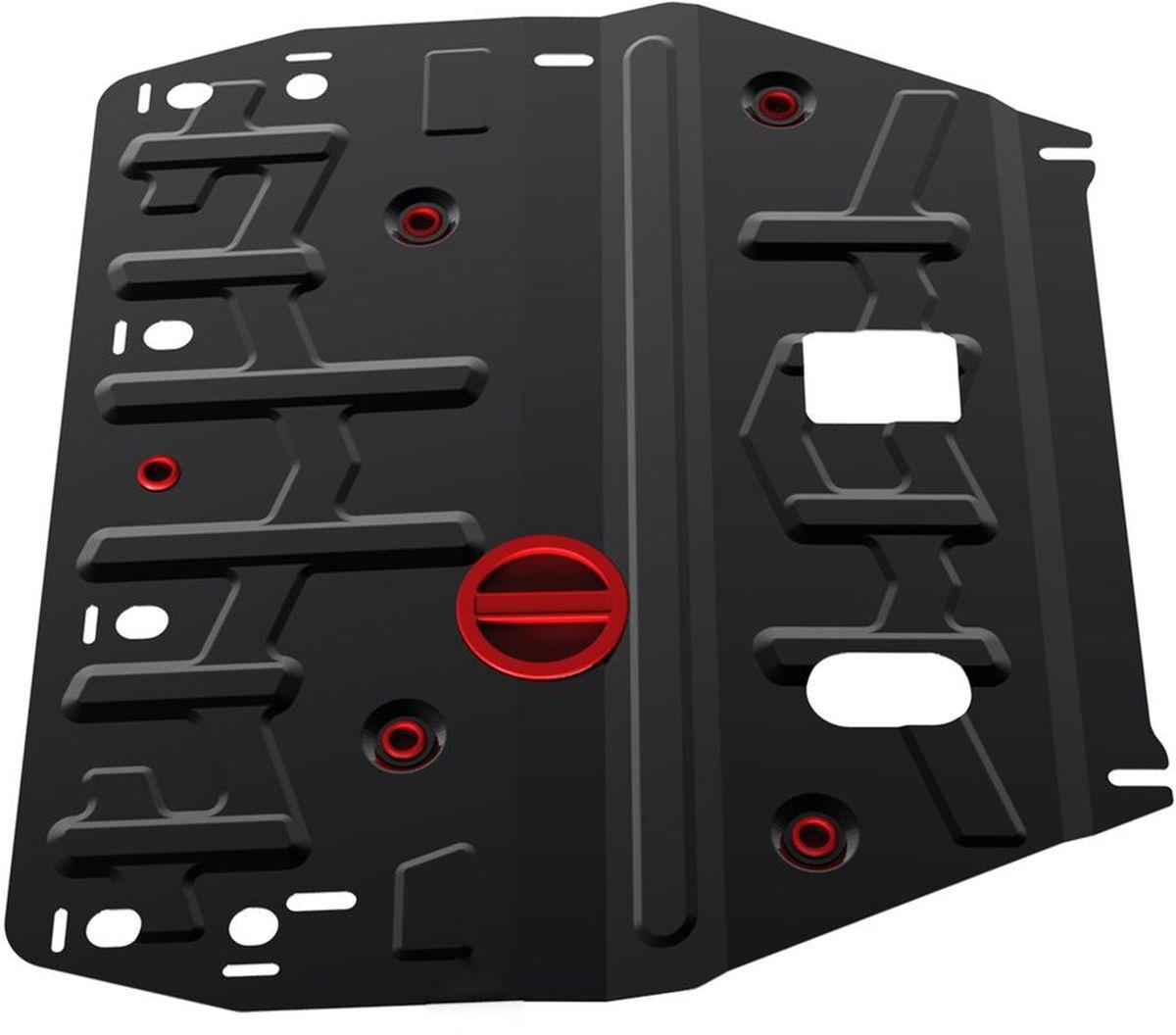 Защита картера и КПП Автоброня, для Hyundai i40. 111.02342.11004900000360Технологически совершенный продукт за невысокую стоимость.Защита разработана с учетом особенностей днища автомобиля, что позволяет сохранить дорожный просвет с минимальным изменением.Защита устанавливается в штатные места кузова автомобиля. Глубокий штамп обеспечивает до двух раз больше жесткости в сравнении с обычной защитой той же толщины. Проштампованные ребра жесткости препятствуют деформации защиты при ударах.Тепловой зазор и вентиляционные отверстия обеспечивают сохранение температурного режима двигателя в норме. Скрытый крепеж предотвращает срыв крепежных элементов при наезде на препятствие.Шумопоглощающие резиновые элементы обеспечивают комфортную езду без вибраций и скрежета металла, а съемные лючки для слива масла и замены фильтра - экономию средств и время.Конструкция изделия не влияет на пассивную безопасность автомобиля (при ударе защита не воздействует на деформационные зоны кузова). Со штатным крепежом. В комплекте инструкция по установке.Толщина стали: 2 мм.