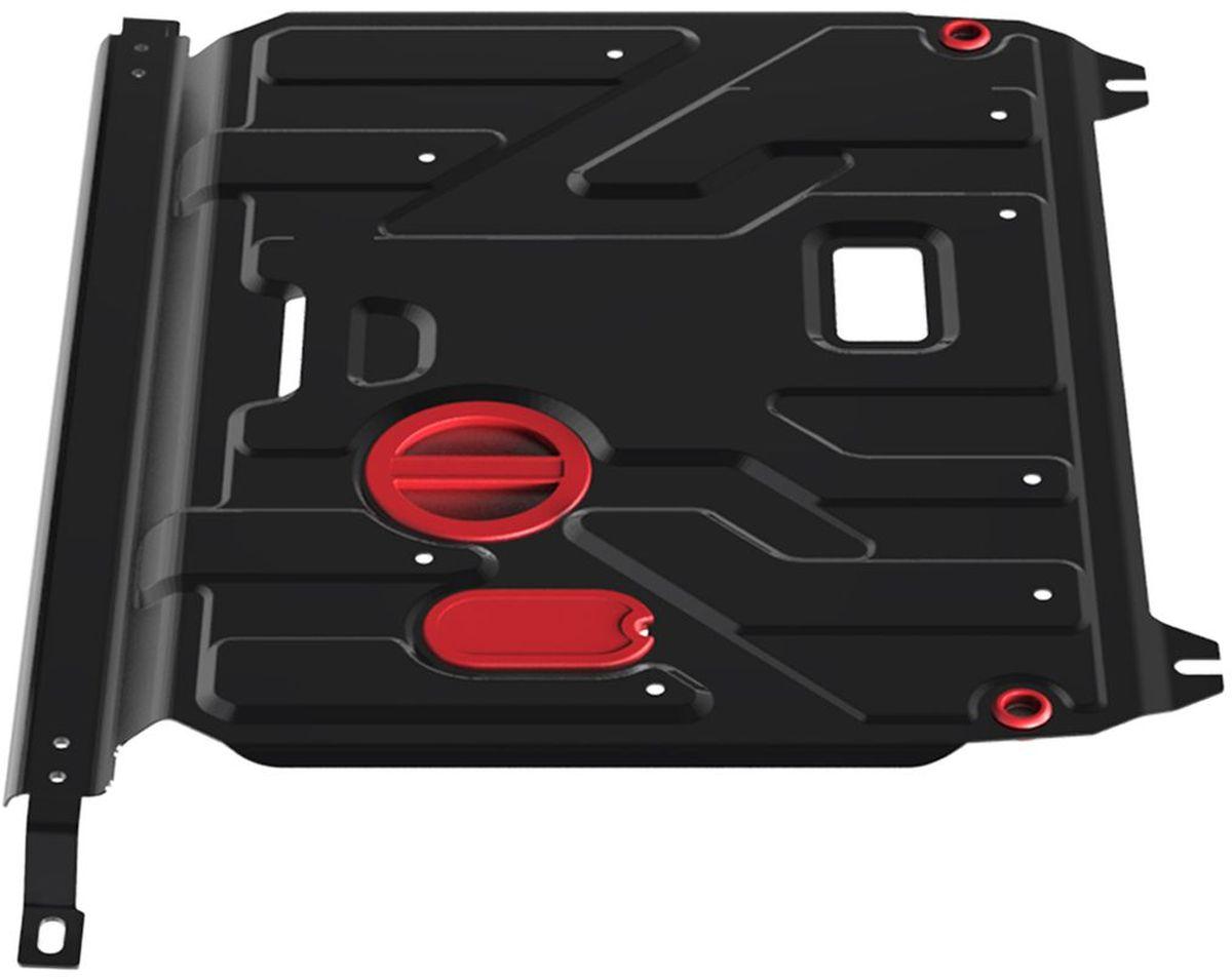 Защита картера и КПП Автоброня Hyundai Solaris 2011-2016/Kia Rio 2011-2016, сталь 2 ммкн12-60авцЗащита картера и КПП Автоброня для Hyundai Solaris, V - 1,4; 1,6 2011-2016/Kia Rio картер, V - 1,4; 1,6 2011-2016, сталь 2 мм, комплект крепежа.Стальная защита Автоброня надежно защитит ваш автомобиль от повреждений при наезде на бордюры, выступающие канализационные люки, кромки поврежденного асфальта или при ремонте дорог, не говоря уже о загородных дорогах. - Имеет оптимальное соотношение цена-качество. - Спроектирована с учетом особенностей автомобиля, что делает установку удобной. - Защита устанавливается в штатные места кузова автомобиля. - Является надежной защитой для важных элементов на протяжении долгих лет. - Глубокий штамп дополнительно усиливает конструкцию защиты. - Подштамповка в местах крепления защищает крепеж от срезания. - Технологические отверстия там, где они необходимы для смены масла и слива воды, оборудованные заглушками, закрепленными на защите. Толщина стали 2 мм. В комплекте крепеж и инструкция по установке.