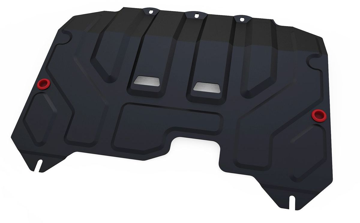 Защита картера и КПП Автоброня, для Hyundai ix35/Kia Sportage. 111.02352.1SS 4041Технологически совершенный продукт за невысокую стоимость.Защита разработана с учетом особенностей днища автомобиля, что позволяет сохранить дорожный просвет с минимальным изменением.Защита устанавливается в штатные места кузова автомобиля. Глубокий штамп обеспечивает до двух раз больше жесткости в сравнении с обычной защитой той же толщины. Проштампованные ребра жесткости препятствуют деформации защиты при ударах.Тепловой зазор и вентиляционные отверстия обеспечивают сохранение температурного режима двигателя в норме. Скрытый крепеж предотвращает срыв крепежных элементов при наезде на препятствие.Шумопоглощающие резиновые элементы обеспечивают комфортную езду без вибраций и скрежета металла, а съемные лючки для слива масла и замены фильтра - экономию средств и время.Конструкция изделия не влияет на пассивную безопасность автомобиля (при ударе защита не воздействует на деформационные зоны кузова). Со штатным крепежом. В комплекте инструкция по установке.Толщина стали: 2 мм.