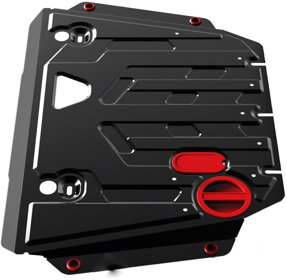 Защита картера и КПП Автоброня, для Kia Sorento 2009, V - 2,2; 2,4 (2009-2012)2706 (ПО)Технологически совершенный продукт за невысокую стоимость.Защита разработана с учетом особенностей днища автомобиля, что позволяет сохранить дорожный просвет с минимальным изменением.Защита устанавливается в штатные места кузова автомобиля. Глубокий штамп обеспечивает до двух раз больше жесткости в сравнении с обычной защитой той же толщины. Проштампованные ребра жесткости препятствуют деформации защиты при ударах.Тепловой зазор и вентиляционные отверстия обеспечивают сохранение температурного режима двигателя в норме. Скрытый крепеж предотвращает срыв крепежных элементов при наезде на препятствие.Шумопоглощающие резиновые элементы обеспечивают комфортную езду без вибраций и скрежета металла, а съемные лючки для слива масла и замены фильтра - экономию средств и время.Конструкция изделия не влияет на пассивную безопасность автомобиля (при ударе защита не воздействует на деформационные зоны кузова). Со штатным крепежом. В комплекте инструкция по установке.Толщина стали: 2 мм.Уважаемые клиенты!Обращаем ваше внимание, что элемент защиты имеет форму, соответствующую модели данного автомобиля. Фото служит для визуального восприятия товара и может отличаться от фактического.