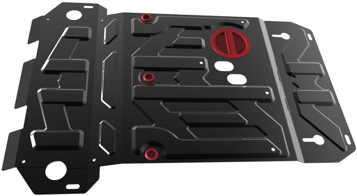 Защита картера и КПП Автоброня, для Suzuki Grand Vitara. 111.05501.5CA-3505Технологически совершенный продукт за невысокую стоимость.Защита разработана с учетом особенностей днища автомобиля, что позволяет сохранить дорожный просвет с минимальным изменением.Защита устанавливается в штатные места кузова автомобиля. Глубокий штамп обеспечивает до двух раз больше жесткости в сравнении с обычной защитой той же толщины. Проштампованные ребра жесткости препятствуют деформации защиты при ударах.Тепловой зазор и вентиляционные отверстия обеспечивают сохранение температурного режима двигателя в норме. Скрытый крепеж предотвращает срыв крепежных элементов при наезде на препятствие.Шумопоглощающие резиновые элементы обеспечивают комфортную езду без вибраций и скрежета металла, а съемные лючки для слива масла и замены фильтра - экономию средств и время.Конструкция изделия не влияет на пассивную безопасность автомобиля (при ударе защита не воздействует на деформационные зоны кузова). Со штатным крепежом. В комплекте инструкция по установке.Толщина стали: 2 мм.