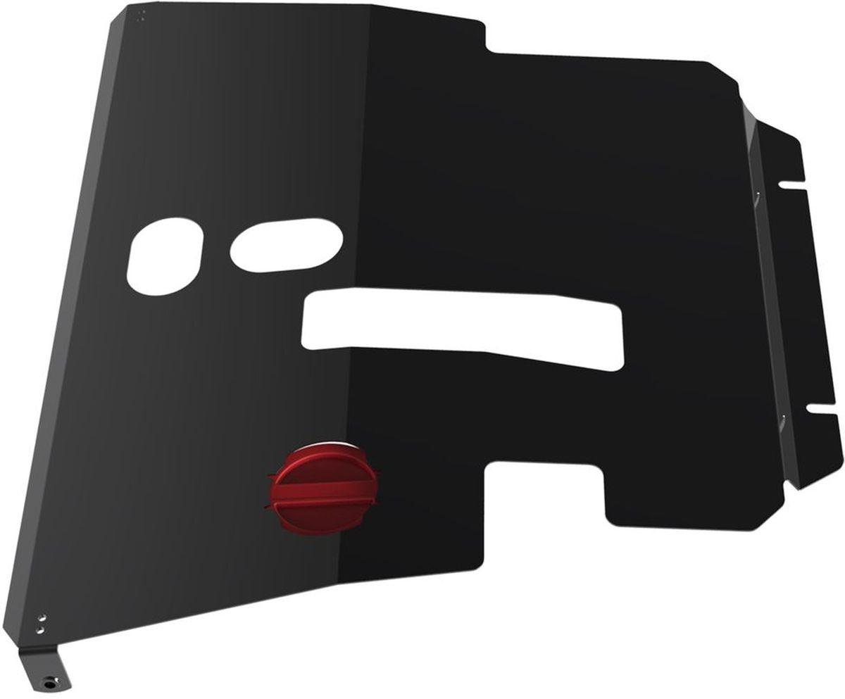 Защита картера и КПП Автоброня, для Toyota Avensis. 111.05701.1RC-100BWCТехнологически совершенный продукт за невысокую стоимость.Защита разработана с учетом особенностей днища автомобиля, что позволяет сохранить дорожный просвет с минимальным изменением.Защита устанавливается в штатные места кузова автомобиля. Глубокий штамп обеспечивает до двух раз больше жесткости в сравнении с обычной защитой той же толщины. Проштампованные ребра жесткости препятствуют деформации защиты при ударах.Тепловой зазор и вентиляционные отверстия обеспечивают сохранение температурного режима двигателя в норме. Скрытый крепеж предотвращает срыв крепежных элементов при наезде на препятствие.Шумопоглощающие резиновые элементы обеспечивают комфортную езду без вибраций и скрежета металла, а съемные лючки для слива масла и замены фильтра - экономию средств и время.Конструкция изделия не влияет на пассивную безопасность автомобиля (при ударе защита не воздействует на деформационные зоны кузова). Со штатным крепежом. В комплекте инструкция по установке.Толщина стали: 2 мм.
