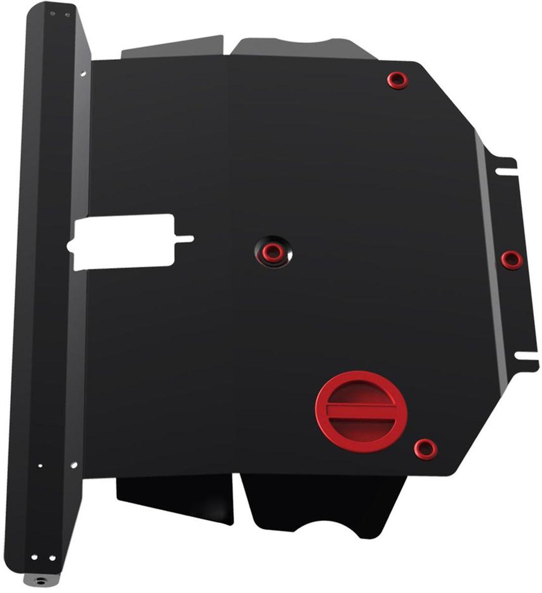Защита картера и КПП Автоброня, для BYD F3, V-1,6 (2005-)/Toyota Corolla, V-1,6 (2002-2006)2706 (ПО)Технологически совершенный продукт за невысокую стоимость.Защита разработана с учетом особенностей днища автомобиля, что позволяет сохранить дорожный просвет с минимальным изменением.Защита устанавливается в штатные места кузова автомобиля. Глубокий штамп обеспечивает до двух раз больше жесткости в сравнении с обычной защитой той же толщины. Проштампованные ребра жесткости препятствуют деформации защиты при ударах.Тепловой зазор и вентиляционные отверстия обеспечивают сохранение температурного режима двигателя в норме. Скрытый крепеж предотвращает срыв крепежных элементов при наезде на препятствие.Шумопоглощающие резиновые элементы обеспечивают комфортную езду без вибраций и скрежета металла, а съемные лючки для слива масла и замены фильтра - экономию средств и время.Конструкция изделия не влияет на пассивную безопасность автомобиля (при ударе защита не воздействует на деформационные зоны кузова). Со штатным крепежом. В комплекте инструкция по установке.Толщина стали: 2 мм.