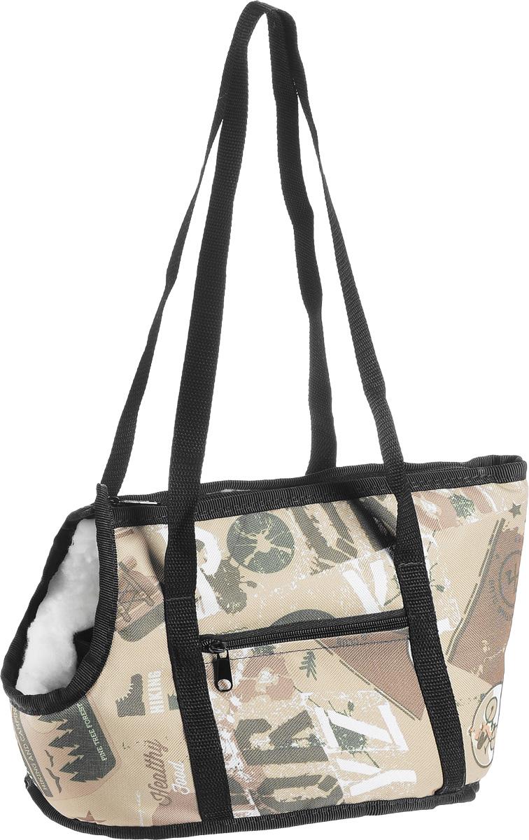 Сумка-переноска для животных Elite Valley Спорт, 30 х 16 х 20 см0120710Текстильная сумка-переноска на меху Elite Valley Спорт, выполненная из высококачественных материалов, предназначена для собак мелких пород и кошек.Изделие, закрывающееся на застежку-молнию, оснащено отверстием для головы животного, чтобы ваш любимец мог дышать. Для удобной переноски предусмотрено две ручки и регулируемая по длине съемная лямка. С одной стороны имеется карман на молнии. Сумка-переноска Elite Valley обязательно понравится вашим домашним любимцам и сделает любую поездку наиболее комфортной.