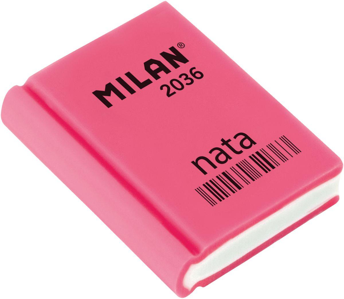 Milan Ластик Nata 2036 прямоугольный цвет розовыйFS-36054Ластик Milan Nata 2036- это универсальный синтетический ластик. Широкий спектр применения. Яркие неоновые цвета, плотная структура. Высокие абсорбирующие показатели.