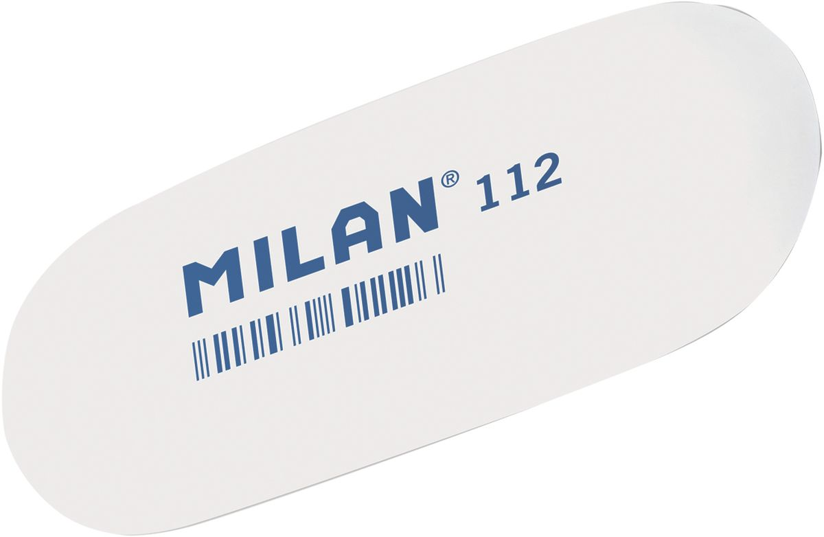 Milan Ластик 112 цвет белый227866Ластик Milan овальной формы подходит для работы с очень мягкими карандашами и со специальными видами карандашей. Ластик хорошо подходит для создания свето-теневых эффектов в портретных работах.