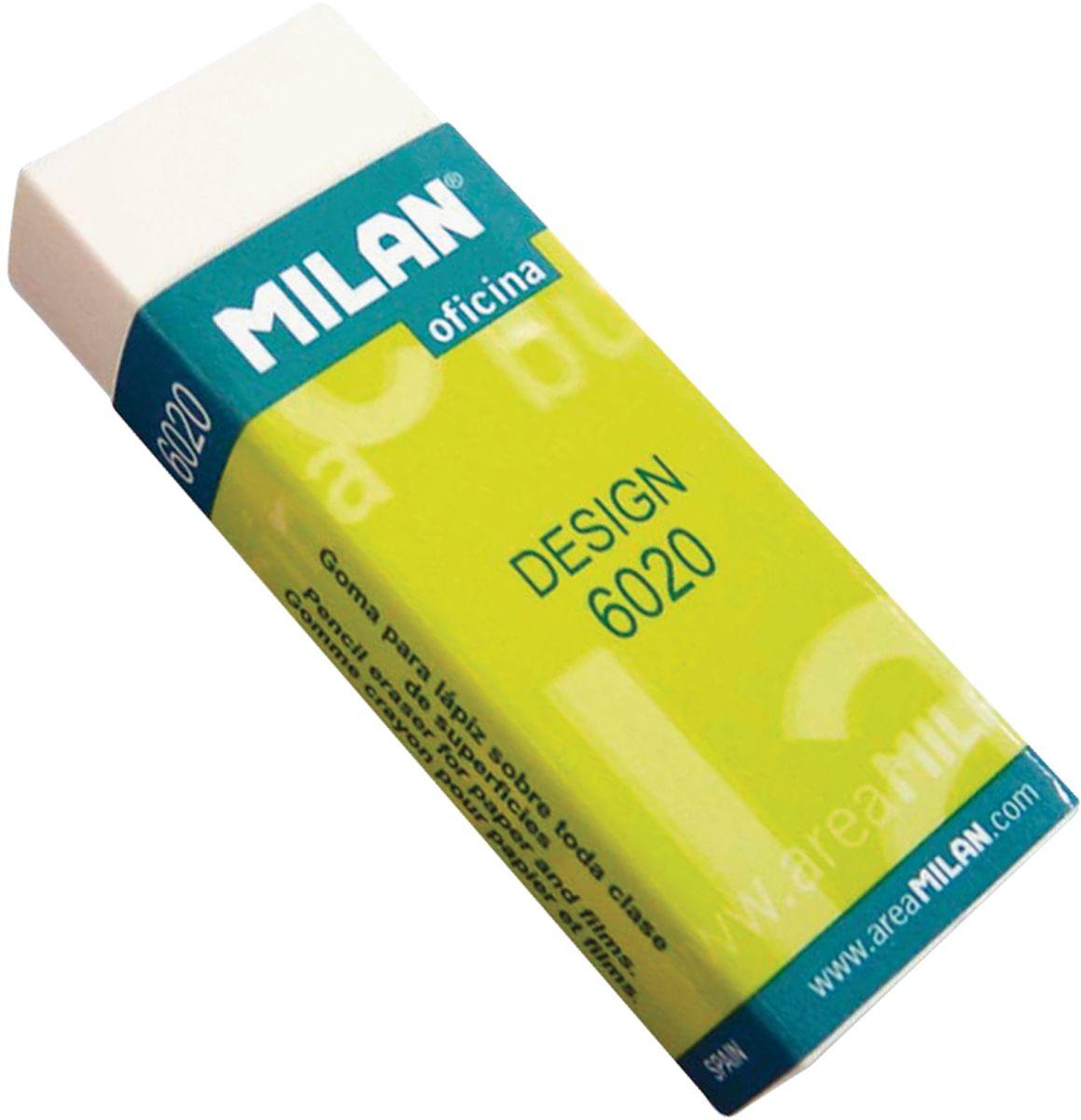 Milan Ластик Design 6020 прямоугольныйFS-36052Ластик Milan Design 6020 - это синтетический ластик широкого спектра применения в области дизайна и графики, конструкторских работ, архитектурных проектов. Картонный держатель, высокие функциональные свойства.