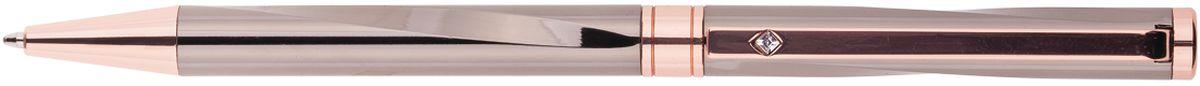 Подарочная ручка Delucci сочетает в себе изысканный дизайн и современные технологии. Цвет корпуса и отделка темно-серого и золотистого цветов. Оригинальное рифление на корпусе, кристалл на клипе. Диаметр пишущего узла - 1 мм.