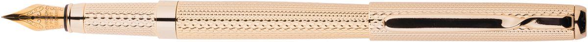 Delucci Ручка перьевая цвет корпуса золотистый0703415Перьевая ручка Delucci создана для настоящих ценителей классики. Цвет корпуса золотистый, с рифлением. Оригинальный клип. Изящная гравировка. Диаметр пишущего узла - 0,8 мм.