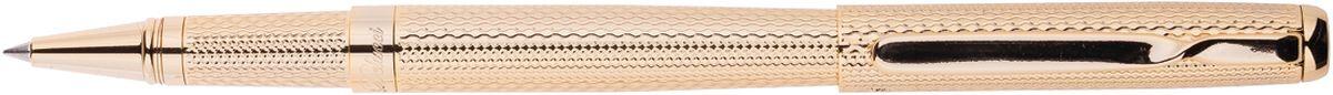 Delucci Ручка роллер синяя корпус золото2010440Ручка роллер поможет подчеркнуть стиль их обладателей. Цвет корпуса золотистого цвета, с рифлением. Оригинальный клип, изящная гравировка. Диаметр пишущего узла - 0,6 мм.