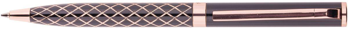 Delucci Ручка шариковая цвет корпуса черный золотистый CPs_1182872523WDШариковая ручка Delucci с изящной гравировкой прекрасно смотрится в руке и позволяет оставаться в центре внимания. Цвет корпуса и отделка черного и золотистого цветов. Орнамент сетка. Диаметр пишущего узла - 1 мм.