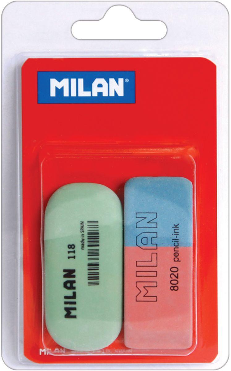 Milan Набор ластиков 8020 и 118 2шт72523WDКомплект ластиков Milan включает в себя один натуральный и один синтетический ластик для работы с цветными пигментами и чернилами.