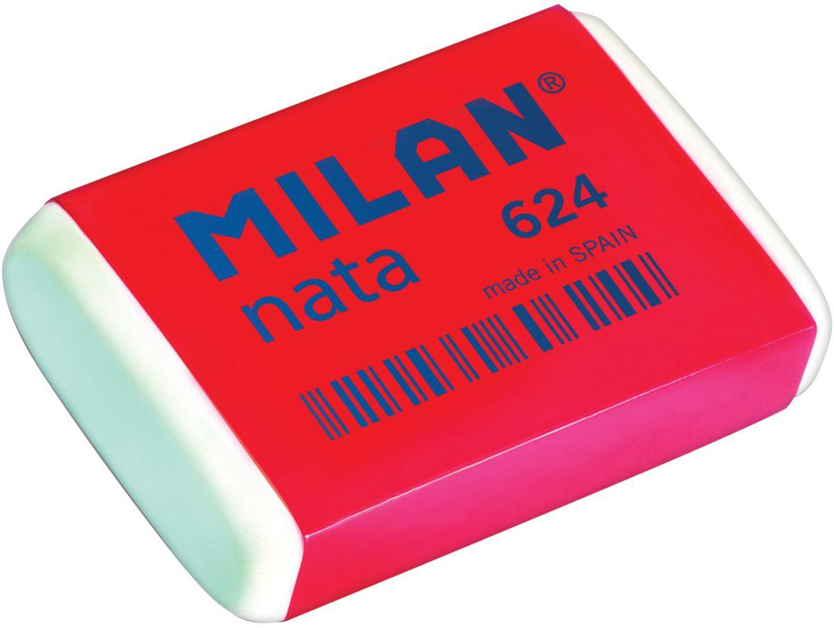 Синтетические ластики Milan Nata 624производятся с добавлением отбеливающих компонентов и обладают структурой средней жесткости. Все эти свойства гарантируют безупречную работу с любыми видами графита и цветных пигментов и бережное отношение к поверхности бумаги.