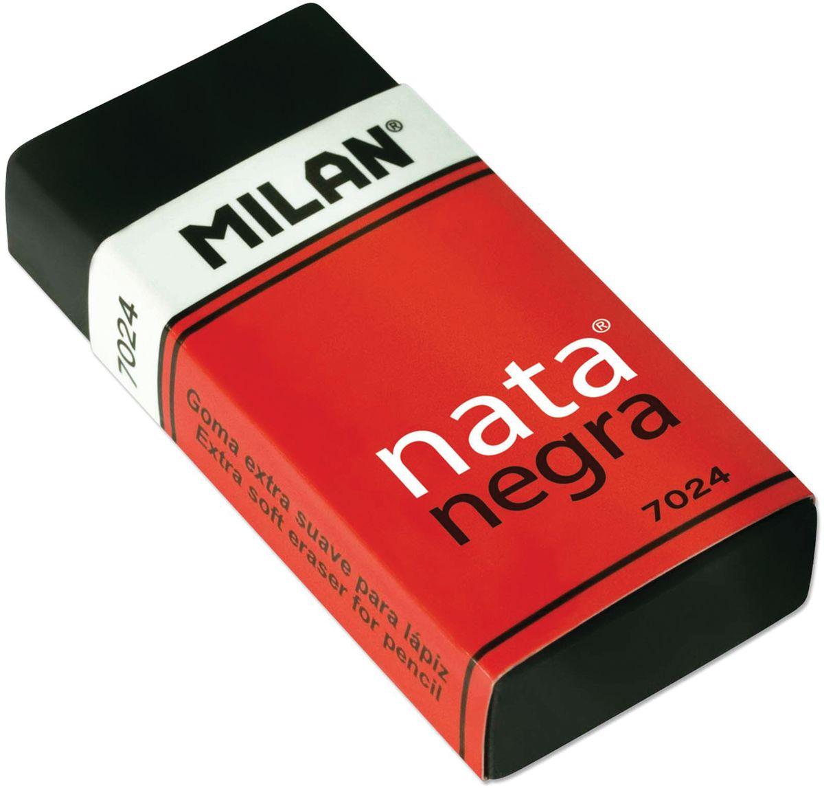 Milan Ластик Nata Negra 7024 прямоугольныйFS-36054Ластик Milan Nata Negra 7024 - это высокоэффективный синтетический ластик нового поколения для работы с любыми видами графита и пигментов. Яркое дизайнерское решение подсказано функциональными особенностями полимерных добавок, повышающих абсорбирующие свойства и гарантирующих бережное отношение к структуре бумаги.