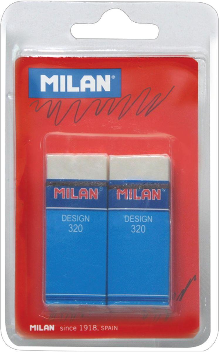 Milan Набор ластиков Design 320, 2штFS-36054Набор ластиков Milan Design 320 включает в себя 2 мягких ластика с великолепными абсорбирующими свойствами для профессионалов. Удобная защитная пленка и бумажный держатель. Для карандашей с твердостью 3H, 2H, H, F, HB, B и 2B.