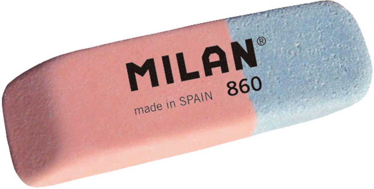 Milan Ластик 860 скошенный комбинированныйCCM860RAЛастик Milan 860 из натурального каучука подходит для удаления штрихов от большинства графитовых карандашей на всех видах поверхностей.