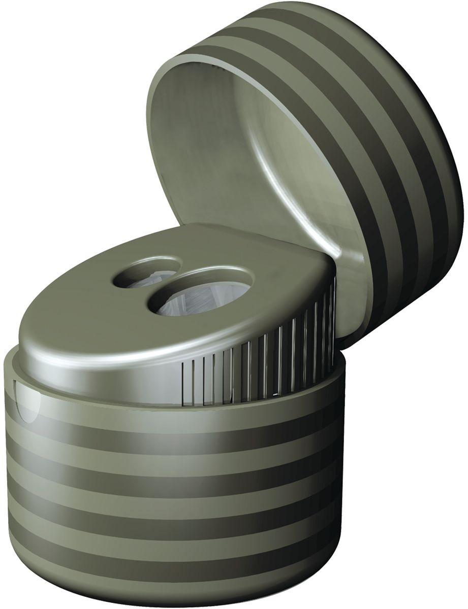 Milan ТочилкаDuet с контейнером72523WDДизайнерская точилка MILAN. Оснащена безопасной системой заточки. Эта система предотвращает отделение лезвия от точилки. Идеально подходит для использования в школах. Стальное лезвие острое и устойчиво к повреждению. Идеально подходит для заточки графитовых и цветных карандашей
