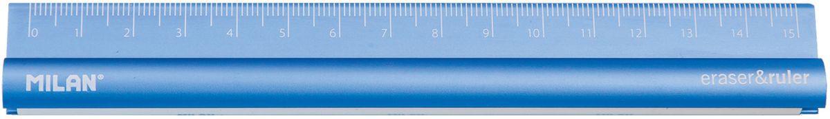 Milan Линейка с ластиком 15 см72523WDМеталлическая линейка двухсторонняя 15 см со встроенным ластиком. Три доступных цвета: серый, синий и пурпурный