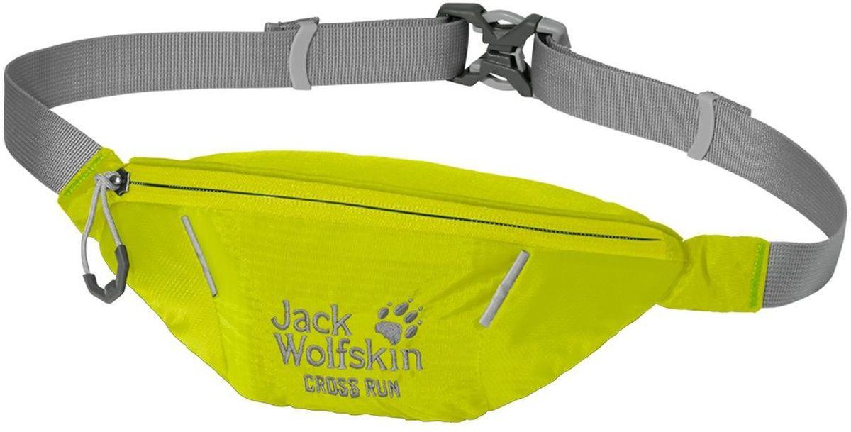 Сумка поясная Jack Wolfskin Cross Run, цвет: лимонный. 2002412-4088ML597BUL/DМаленькая поясная сумка для занятий спортом оснащена одним отделением на молнии. Регулируется в объеме при помощи ремешка с фастексом.